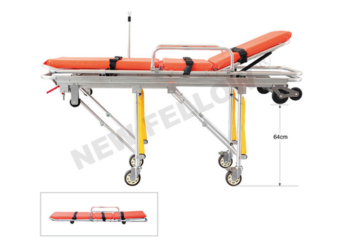 Mobile Aluminum Ambulance Stretcher Transfer Trolley For First Aid Rescue