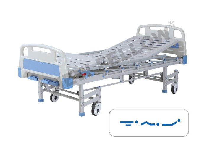 Multifunction mobile Powder - coated Steel Medical Hospital Beds caster wheel