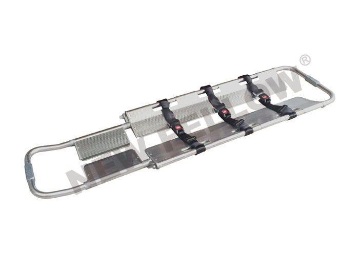 First Aid Scoop Stretcher , Hospital Patient Transfer Stretcher With Steel Buckle Belts