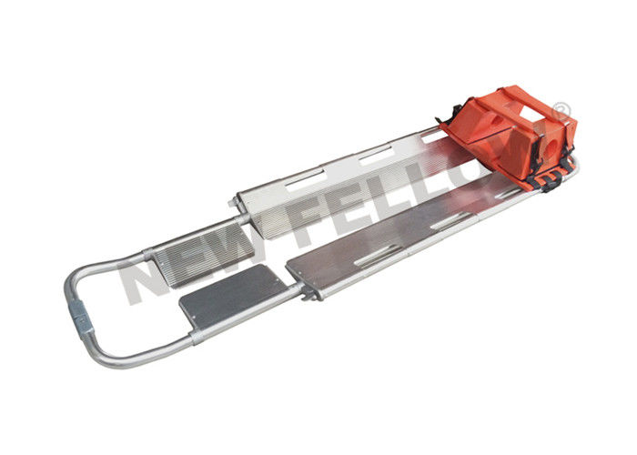 Hospital Aluminum Alloy Scoop Ambulance Trolley Stretchers With Head Immobilize